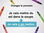 changez le pronom18