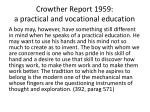 crowther report 1959 a practical and vocational education