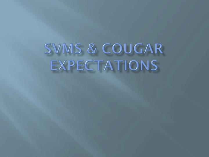 svms cougar expectations n.