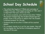 school day schedule