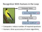 recognition with humans in the loop