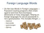 foreign language words