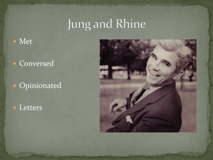 Jung and Rhine