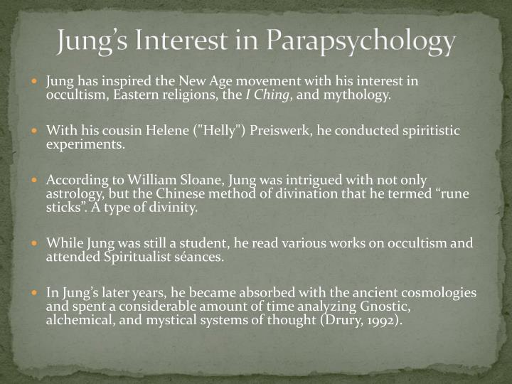 Jung's Interest in Parapsychology
