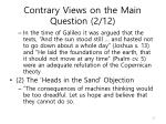contrary views on the main question 2 12
