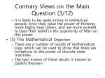 contrary views on the main question 3 12
