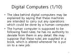 digital computers 1 10