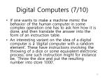 digital computers 7 10