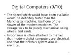 digital computers 9 10