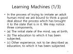learning machines 1 3
