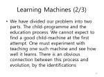 learning machines 2 3