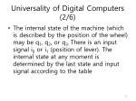 universality of digital computers 2 6