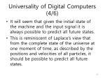 universality of digital computers 4 6