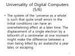 universality of digital computers 5 6