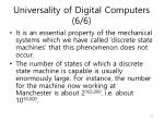 universality of digital computers 6 6