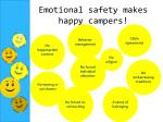 emotional safety makes happy campers