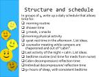 structure and schedule