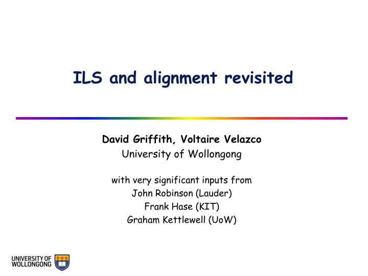 ils and alignment revisited n.