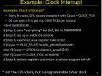 example clock interrupt