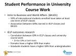 student performance in university course work1