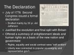 the declaration