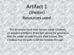 artifact 1 shelter resources used