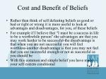 cost and benefit of beliefs