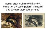 homer often make more than one version of the same picture compare and contrast these two pictures