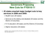 governors proposing new cuts for fy2010 11
