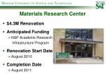 materials research center