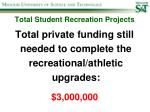 total student recreation projects