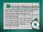 activity responsibility