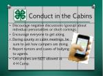 conduct in the cabins1