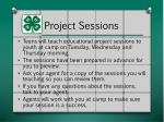 project sessions