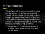 in your notebook