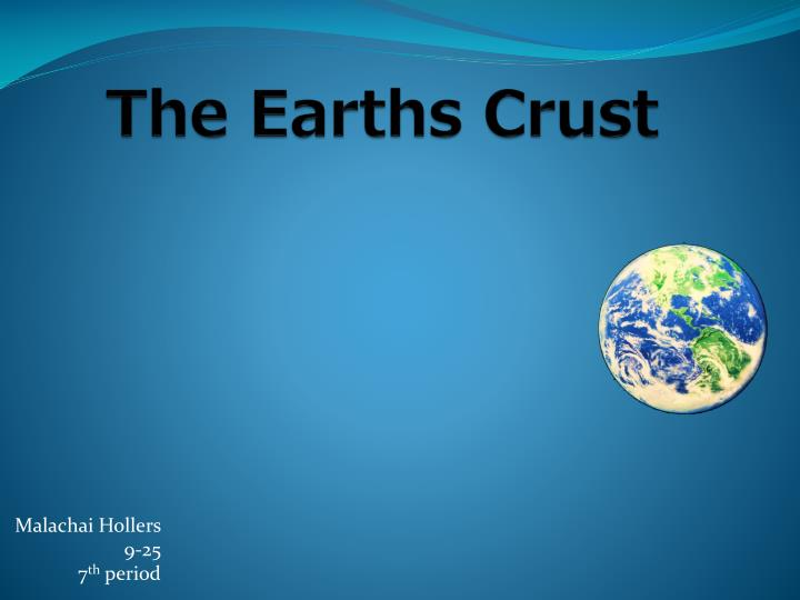 the earths crust n.