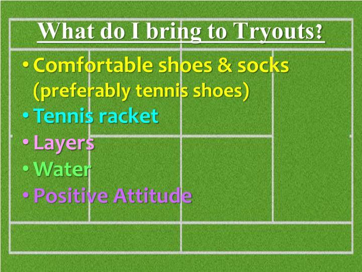 Comfortable shoes & socks
