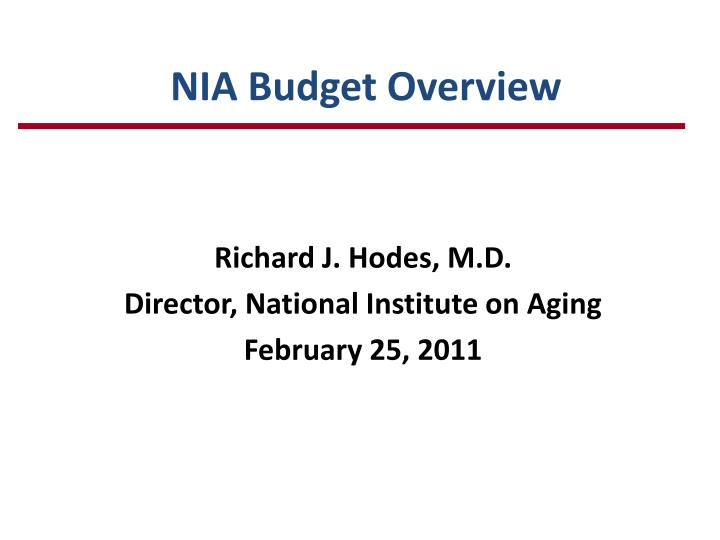 nia budget overview n.