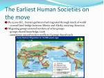 the earliest human societies on the move