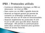 ipbx protocoles utilis s