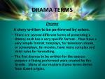 drama terms