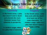 two basics types of drama