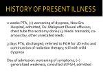 history of present illness1