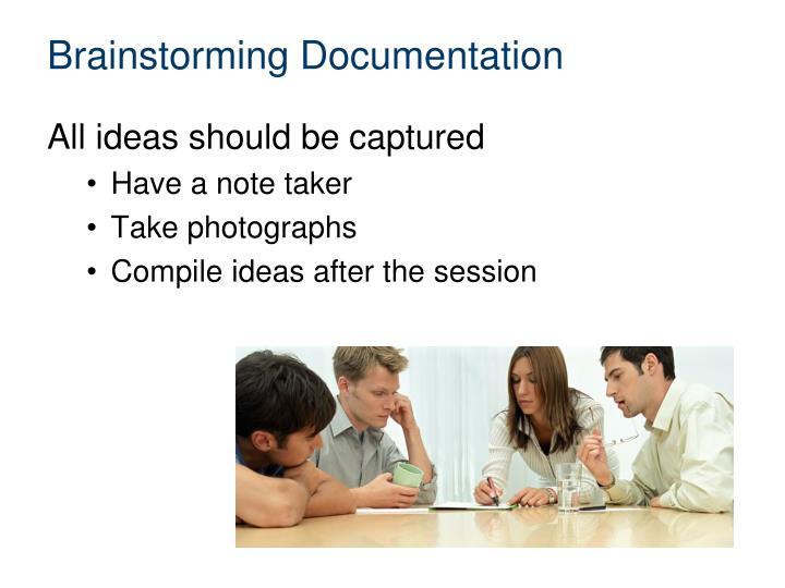 Brainstorming Documentation