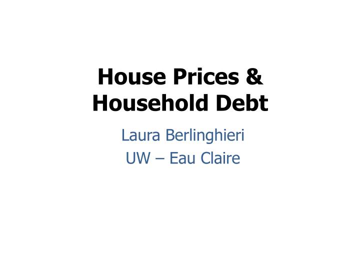 house prices household debt n.