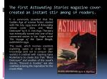 the first astounding stories magazine cover created an instant stir among sf readers