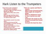 hark listen to the trumpeters