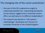 the changing role of the career practitioner