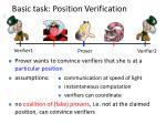 basic task position verification