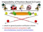 impossibility of position based q crypto